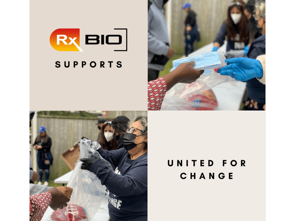 RxBIO supporting the Turkey Thanksgiving Drive by providing masks to the public