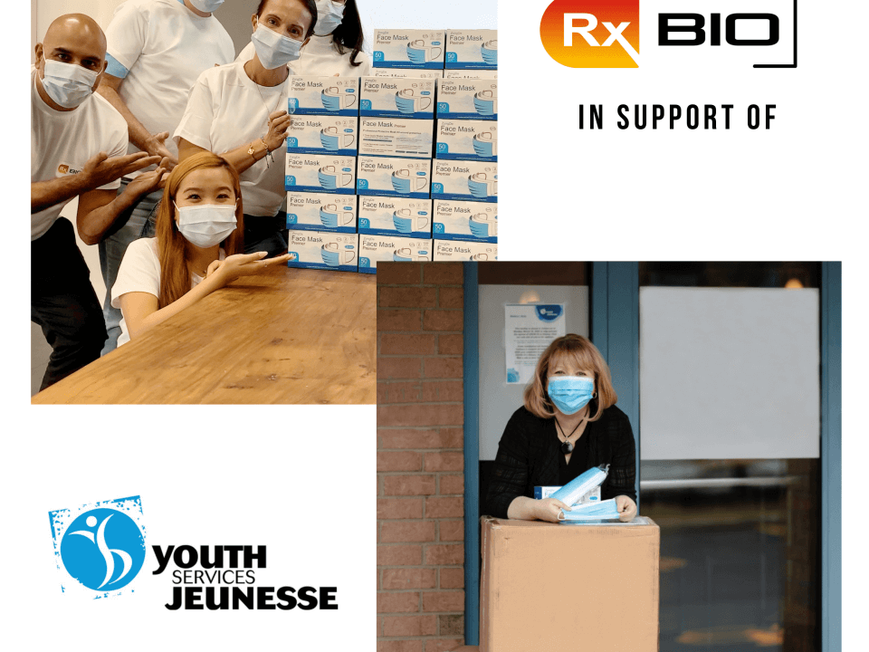 RxBIO donating to the Youth Services Bureau of Ottawa